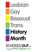 Logo for LGBT History Month Schools Out